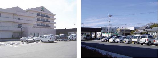 病院正面駐車場(北側)